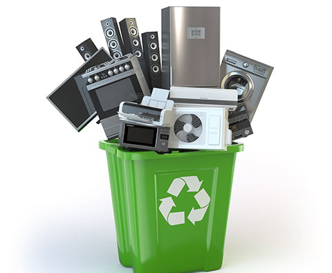 Appliances In Recycling Bin